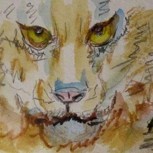 Art: Big Cat Aceo-sold by Artist Delilah Smith