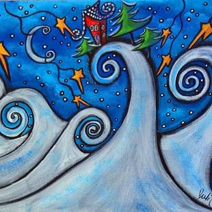 Art: Winter Waves by Artist Juli Cady Ryan