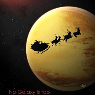 Art: No Galaxy is too Far Away by Artist Amanda Makepeace