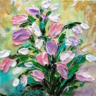 Art: TULIPS in Pink and White by Artist LUIZA VIZOLI