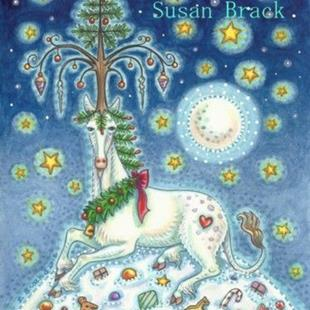Art: MAGIC OF A CHRISTMAS UNICORN by Artist Susan Brack
