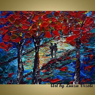 Art: OUR RED TREES by Artist LUIZA VIZOLI