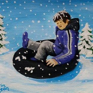 Art: Snow Boy (SOLD) by Artist Monique Morin Matson