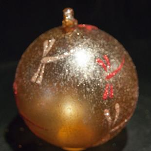 Art: 2012 Dragonfly Ball Warm Gold #15 by Artist Rebecca M Ronesi-Gutierrez