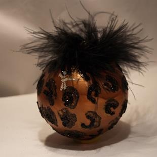 Art: 2012 Dragonfly Ball Black Leopard # 19 by Artist Rebecca M Ronesi-Gutierrez
