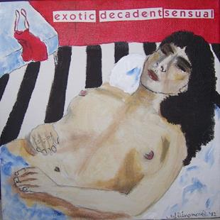 Art: exotic decadent sensual SOLD by Artist Nancy Denommee