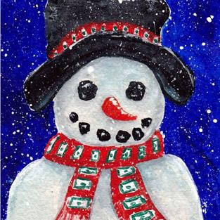 Art: Snowman - available in my etsy store by Artist Ulrike 'Ricky' Martin