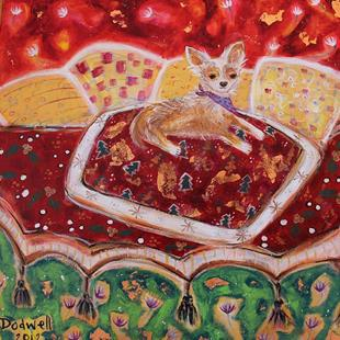 Art: christmas chihuahua by Artist Andrea Dodwell