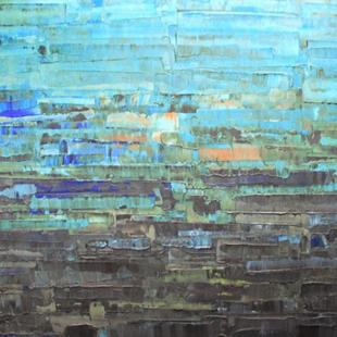 Art: Blue Abstraction 131 (s) by Artist Luba Lubin