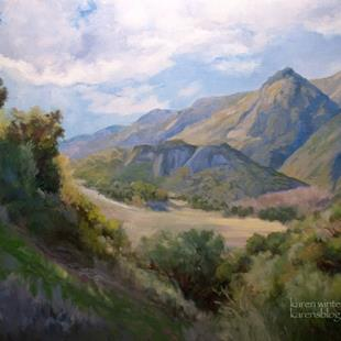 Art: Malibu Monuments, Malibu Creek State Park Landscape oil painting SOLD by Artist Karen Winters