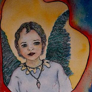 Art: Angel Sketchbook Project 2013 by Artist Nata Romeo ArtistaDonna