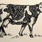 Art: Hattie the Holstein ACEO by Artist Lindi Levison