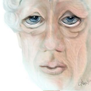 Art: Alzheimers View from a Ravaged Soul by Artist Alma Lee
