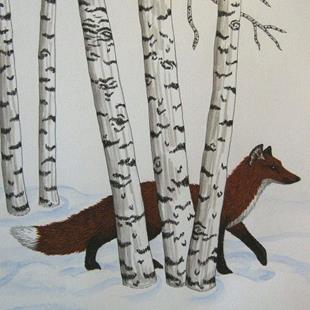 Art: Foxtrot (SOLD) by Artist Jackie K. Hixon