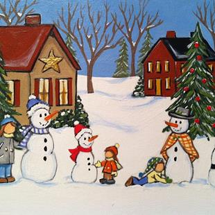 Art: Snowman contest by Artist Rhonda Gilbert