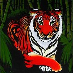 Art: Bamboo Tiger  (SOLD) by Artist Monique Morin Matson