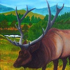 Art: Elk  (SOLD) by Artist Monique Morin Matson