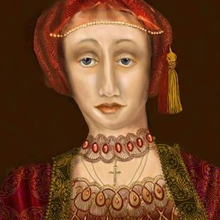 Art: Nothing so Fair: Portrait on King Henry's fifth wife by Artist Alma Lee