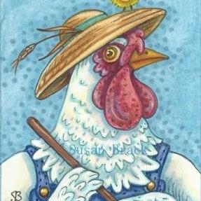 Art: BORN TO BE A CHICKEN FARMER by Artist Susan Brack