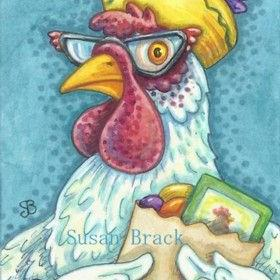 Art: HENNY PENNY WAS A SMART SHOPPER by Artist Susan Brack