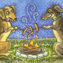 Art: WIENER ROAST by Artist Susan Brack
