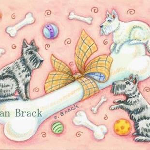 Art: BOW WOW BONES & BALLS by Artist Susan Brack