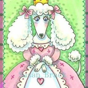 Art: PRINCESS POODLE PUFF by Artist Susan Brack
