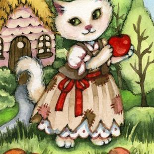 Art: Snow White's Apple ACEO by Artist Carmen Medlin