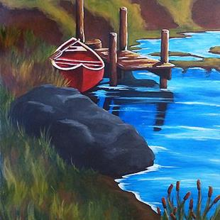 Art: Day on the Pond  (SOLD) by Artist Monique Morin Matson