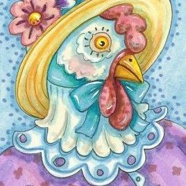 Art: MISS CLUCK by Artist Susan Brack