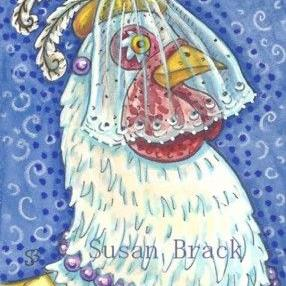 Art: ONE PLUCKY HEN by Artist Susan Brack