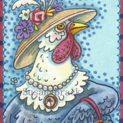Art: SHE'S SUCH A MOTHER HEN by Artist Susan Brack