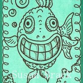 Art: SMILES ARE FREE FISH by Artist Susan Brack