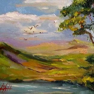 Art: Lake View-sold by Artist Delilah Smith