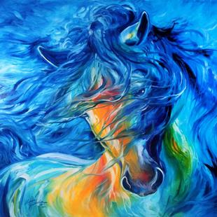 Art: LIKE the WIND FRIESIAN ~ HORSE ART by MARCIA BALDWIN by Artist Marcia Baldwin
