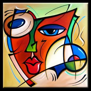 Art: Cubist 123 2424 W Original Cubist Art Just A Dream by Artist Thomas C. Fedro