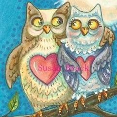 Art: WHOOO WILL BE MY VALENTINE? #2 by Artist Susan Brack