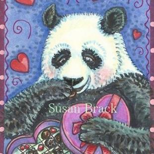 Art: PANDA SWEETHEART by Artist Susan Brack