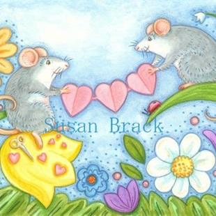 Art: MOUSE HEARTS by Artist Susan Brack