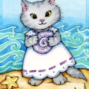Art: On the Seashore I ACEO by Artist Carmen Medlin