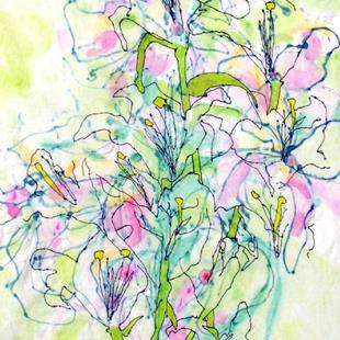 Art: Tree Lilies In Front of the Altar by Artist Mary Anne Carley
