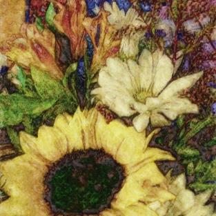 Art: Sunflower Mix by Artist Carolyn Schiffhouer