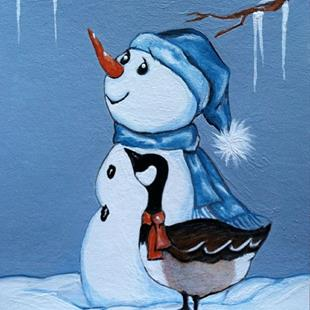 Art: Chilly Winter day by Artist Rhonda Gilbert