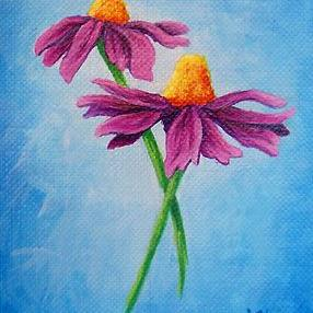 Art: Daisies  (SOLD) by Artist Monique Morin Matson