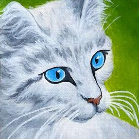 Art: Snowball  (SOLD) by Artist Monique Morin Matson