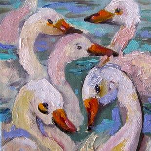 Art: Swans SOLD by Artist Delilah Smith