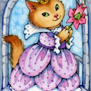 Art: Purple Princess ACEO by Artist Carmen Medlin