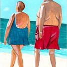 Art: Beach Walkers by Artist Dee Turner