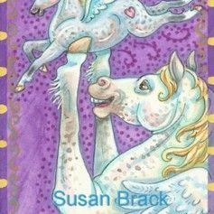Art: Pegasus Family - Horsing Around Sticker Book Published By Dover by Artist Susan Brack