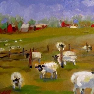 Art: Woolly Sheep by Artist Delilah Smith